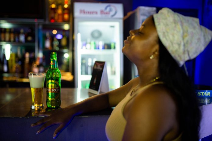 African drinking alcohol